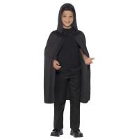 Mantello con cappuccio nero