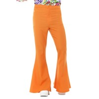 Pantaloni a zampa di elefante arancioni