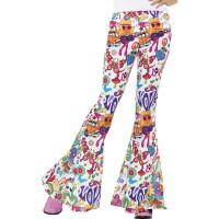 Pantaloni a zampa di elefante da donna con disegni