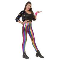 Leggings effetto metallico multicolore