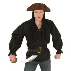 Camicia da corsaro nera