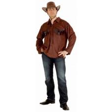 Camicia western effetto pelle con frange