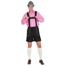 Pantaloni bavaresi corti neri
