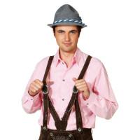 Camicia bavarese da uomo a quadretti rosa