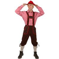 Pantaloni bavaresi lunghi marroni