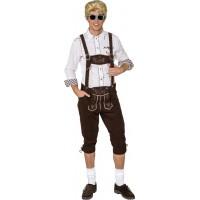 Pantaloni bavaresi effetto pelle da uomo