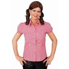 Camicia bavarese da donna a quadretti rossa