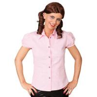 Camicia bavarese da donna a quadretti rosa