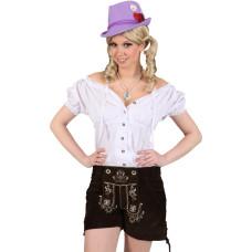 Camicia bavarese da donna con merletto