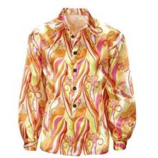 Camicia da hippie psichedelica arancione