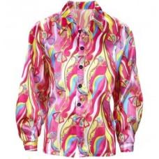 Camicia da hippie psichedelica pink