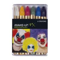 Set di matite in cera a 6 colori