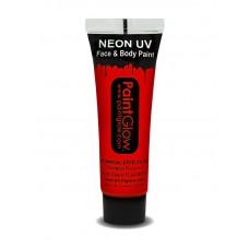 Trucco UV rosso neon