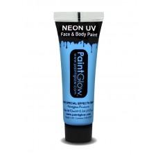 Trucco UV azzurro neon