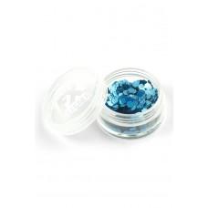 Brillantini per viso blu