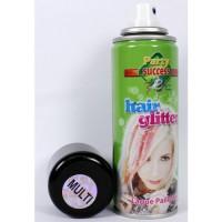 Spray per capelli multicolore glitter