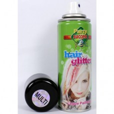 Spray per capelli multicolore glitter